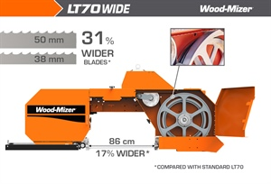 Achieve higher performance with the Wood-Mizer LT70 WIDE Sawmill -...