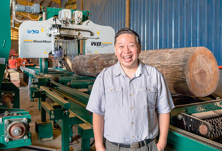 Philippine company upgrades to the WB2000 sawmill to improve profitability
