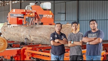 LT70 Remote Sawmill | Machine Walk-through with a Customer in Malaysia