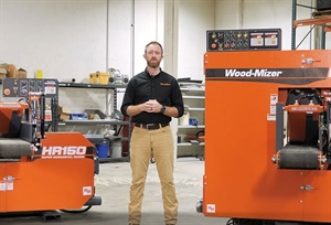 Wood-Mizer Introduces Compact HR150 and HR250 Horizontal Band Resaws