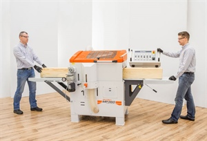 Affordable 4-sided Planer/Moulders debuting at DelhiWood 2019