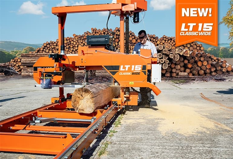 Wood-Mizer Introduces LT15CLASSIC WIDE Sawmill for Bigger Logs and Wider Boards