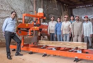 New Delhi sawmill getting more from their logs in India and Africa