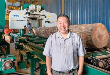 Philippine company upgrades to the WB2000 sawmill to improve...