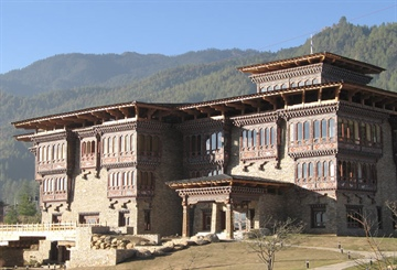 Zhiwa Ling construction in Bhutan