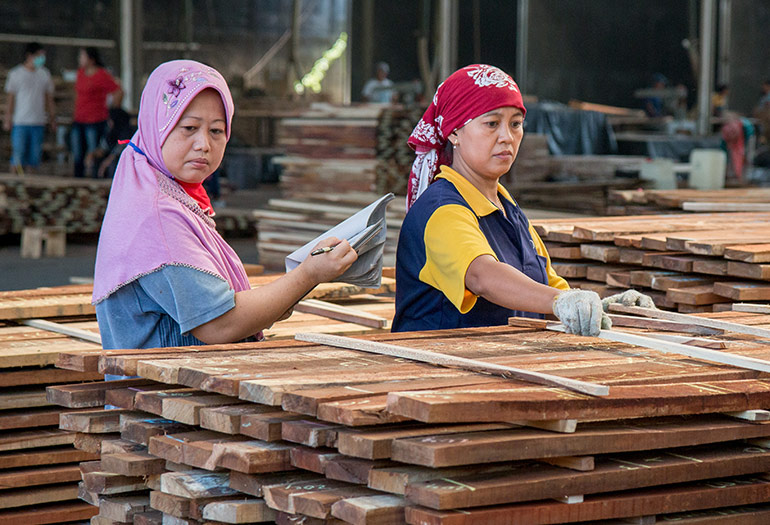 Indonesian Factory Uses Wood Mizer Lt20 Sawmill To Boost