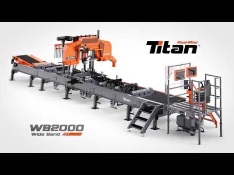Wood Mizer Wb2000 Wideband Sawmill High Performance